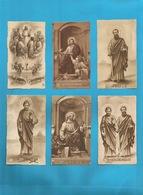 Lotto 6 Santini Santi Apostoli Serie EB Seppia Fustellati Numeri 859, 108, 102, 221, 222, 386 - Religion & Esotericism