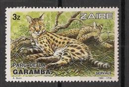 Zaire - 1984 - N°Yv. 1148 - Garamba / Serval - Neuf Luxe ** / MNH / Postfrisch - Félins