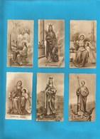 Lotto 6 Santini Sante Serie EB Seppia Fustellati Nr.189, 671,188, 190, 300, 299 #Santino - Religion & Esotericism