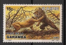 Zaire - 1984 - N°Yv. 1150 - Garamba / Lions - Neuf Luxe ** / MNH / Postfrisch - Félins