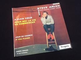 Vinyle 45 Tours  Steve Arlen   A Plein Coeur   (1963) - Discos De Vinilo
