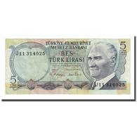 Billet, Turquie, 5 Lira, L.1970, KM:185, TB+ - Turquia