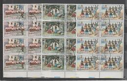 ANDORRA CORREO ESPAÑOL 1972 BLOQUES DE SELLOS MATASELLADOS ( K 2.) - Usados