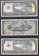 SAN SALVADOR  EL SALVADOR 3 BILLETS BILL GELDSCHEIN EL BANCO CENTRAL DE RESERVA 1980 - El Salvador