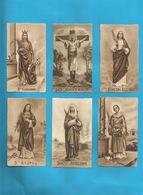 Lotto 6 Santini Sante Vari Serie EB Seppia Fustellati Nr. 189, 356, 175, 341, 187, 176 #Santino - Religion & Esotericism