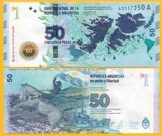 Argentina50 Pesos P-362a 2015 (Suffix A) UNC Banknote - Argentine
