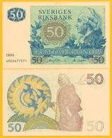 Sweden 50 Kronor P-53d 1984 UNC Banknote - Svezia