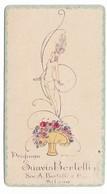 "CARTA PROFUMATA ""SUAVIS BERTELLI"" SOC.A.BERTELLI E C. MILANO FIRMA BIANCHI-2-0882-28934 - Cartes Parfumées"