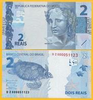 Brazil 2 Reais P-252d 2010 (Prefix DZ) UNC Banknote - Brasil