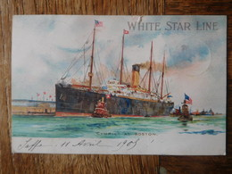 White Star Line 1905 Cymric At Boston / Paquebot - Dampfer