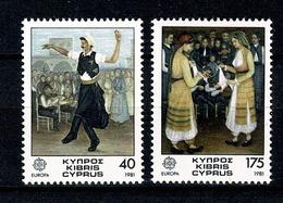 Cyprus 1981 EUROPA Yv 542/543**, Mi 547/548**  MNH  Cat. Yv 1,80 - Chypre (République)