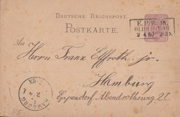 DR Ganzsache R3 E.P.B. 16 Oldenburg (Eisenbahn-Post-Büro 16) - Deutschland