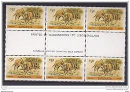 Tanzania Nr 170 Kleinbogen **,  Zeer Mooi Lot Krt 3447 - Timbres
