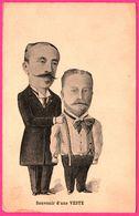 Souvenir D'une Veste - Hommes Avec Grosse Tête - Caricature Politique - Tailleur - Costume Cravate - Satira