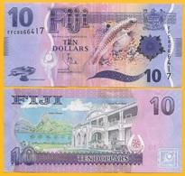 Fiji 10 Dollars P-116 2012 UNC - Fiji
