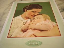ANCIENNE PUBLICITE  LAIT SUCRE NESTLE FARINE LACTEE 1935 - Affiches