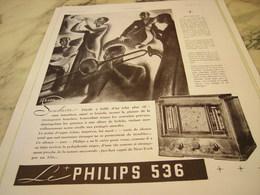ANCIENNE PUBLICITE TSF PHILIPS 1935 - Autres