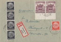 DR R-Brief Mif Minr.4x 512,517,2x 757 Dresden 8.1.41 - Deutschland