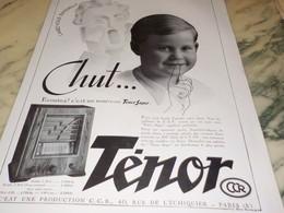 ANCIENNE PUBLICITE RADIO TSF SUPER TENOR  1935 - Musik & Instrumente