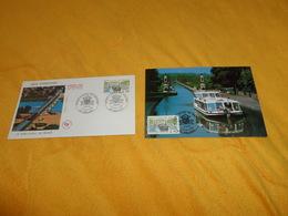 ENVELOPPE FDC + CARTE POSTALE 1ER JOUR DE 1990../ LE PONT CANAL DE BRIARE...CACHETS BRIARE + TIMBRE - FDC