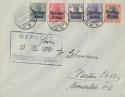Dt. Besetzung Rumänien Brief Mif Minr.8-12 Bukarest 14.9.18 Gel. Nach Berlin Zensur - Occupation 1914-18