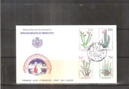 FDC Monaco - 1998 - Cactus - Série Complète - Sukkulenten