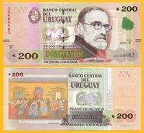 Uruguay 200 Pesos Uruguayos P-89d 2015(2017) (Serie F) UNC - Uruguay