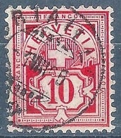 Ziffer 61A, 10 Rp.karminrosa  CORTAILLOD           1895 - 1882-1906 Coat Of Arms, Standing Helvetia & UPU