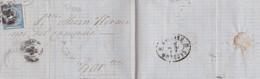 PRECURSEUR REUS A BARCELONA 1866 FULL CONTENT INSIDE  - BLEUP - 1850-68 Koninkrijk: Isabella II