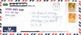 Hong Kong Air Mail Cover Sent To USA 16-6-1991 - Hong Kong (...-1997)