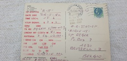 "CB STATION ""KENTUCKY"" Radio ANTENNA Signal Proof Italia Roma £ 120 1980 Isolated Used On Cover Postcard - Telecom"