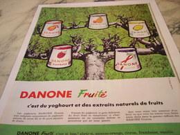 ANCIENNE PUBLICITE DESSERT FRUITE DANONE 1964 - Affiches