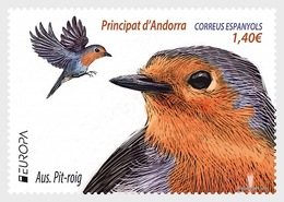 H01 Andorra Spain Europe 2019 - Birds - Robin MNH Postfrisch - Ungebraucht