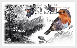 H01 Andorra Spain Europe 2019 - Birds - Robin  FDC - Ungebraucht