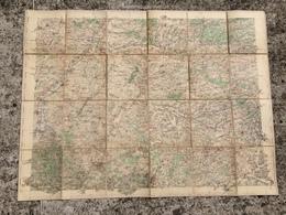 CARTE D ETAT MAJOR ENTOILEE LAON PARPEVILLE CRECY SUR SERRE VOYENNE MARLE EPPES VERVINS GUISE BURELLES AUBENTON SISSONNE - Cartes Topographiques
