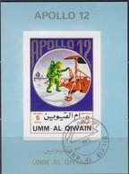 Umm Al KAIWAIN 1972 - MiNr. 923 Kleinblock Apollo 12  Used - Raumfahrt