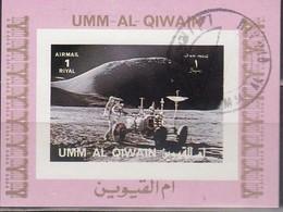 Umm Al KAIWAIN 1972 - MiNr. 1067 Kleinblock  Used - Raumfahrt