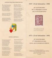 45° ANIVERSARIO VOTO FEMENINO TRIPTICO  AÑO 1992 SINDICATO GASTRONOMIA ARGENTINA RARE  - BLEUP - Documents Historiques