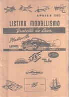 VENDO LISTINO MODELLISMO DEL 1960 IN PERFETTE CONDIZIONI - Catalogi