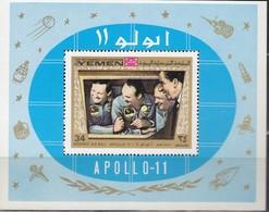 JEMEN Königreich 1969 - MiNr. 809 Block 167 A  ** - Raumfahrt