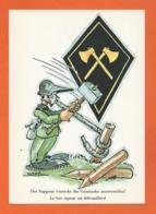 Postcard Military Humor  - BRUGG AG KASERNE 1984 - Umoristiche