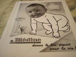 ANCIENNE PUBLICITE BON DEPART BLEDINE DE JACQUEMAIRE 1935 - Affiches