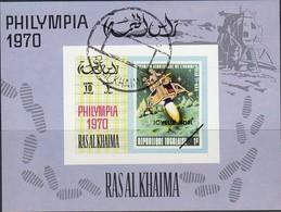 Ras Al KHAIMA 1970 - MiNr. 490 Block D95 Used - Raumfahrt