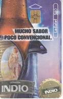 TARJETA DE MEXICO DE CERVEZA INDIO BOTELLA (BEER) - Food