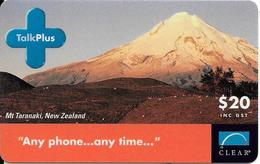 CARTE-PREPAYEE-NOUVELLE ZELANDE-TALKPLUS-2003-Mont TARANAKI-BE-RARE - Neuseeland