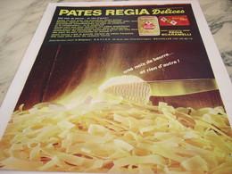 ANCIENNE PUBLICITE  LES PATES ALIMENTAIRE  REGIA DELICES  1964 - Affiches