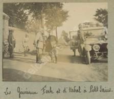 Guerre De 1914-18 . Les Généraux Foch Et D'Urbal à Petit Sains (Sains-en-Gohelle). Automobile . - Guerre, Militaire