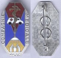 Insigne De La 402e Compagnie Médicale - Medical Services