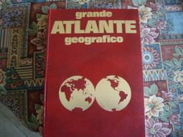 Grande Atlante De Agostini, Iscrizioni Dorate Anni 70 - Storia, Filosofia E Geografia