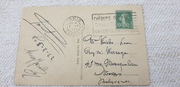 France Used Cover Postcard 1922 CHEQUES ... Isolated - Storia Postale